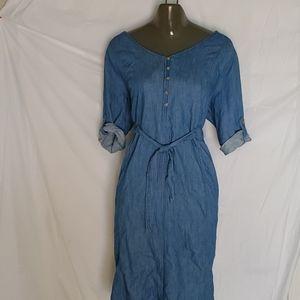 Isabel Maternity Denim Shirt Dress